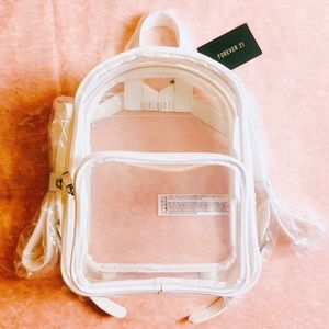 Forever21 Mini Clear Backpack NEW! 💓